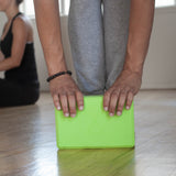 Yoga Block & Yoga Strap Combo Pack - Lime