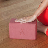 Yoga Block & Yoga Strap Combo Pack - Red