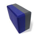 Two-Tone Yoga Block, Indigo-Charcoal