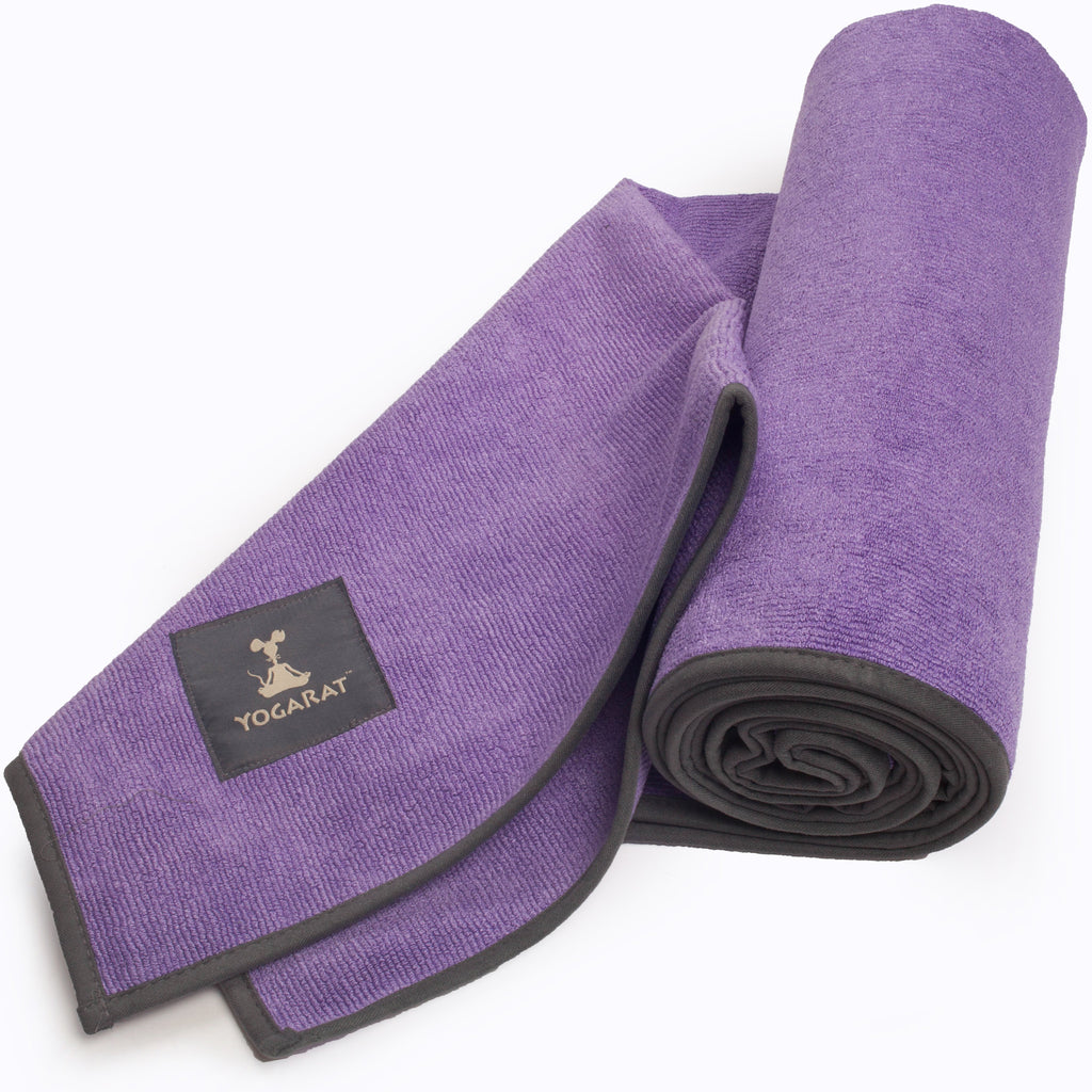 Purple-Charcoal Hot Yoga Towel