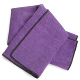 Purple-Charcoal Hot Yoga Hand Towel