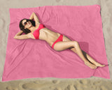 Hot Pink-Blossom Beach Blanket