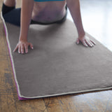 Charcoal-Ash Yoga Towel