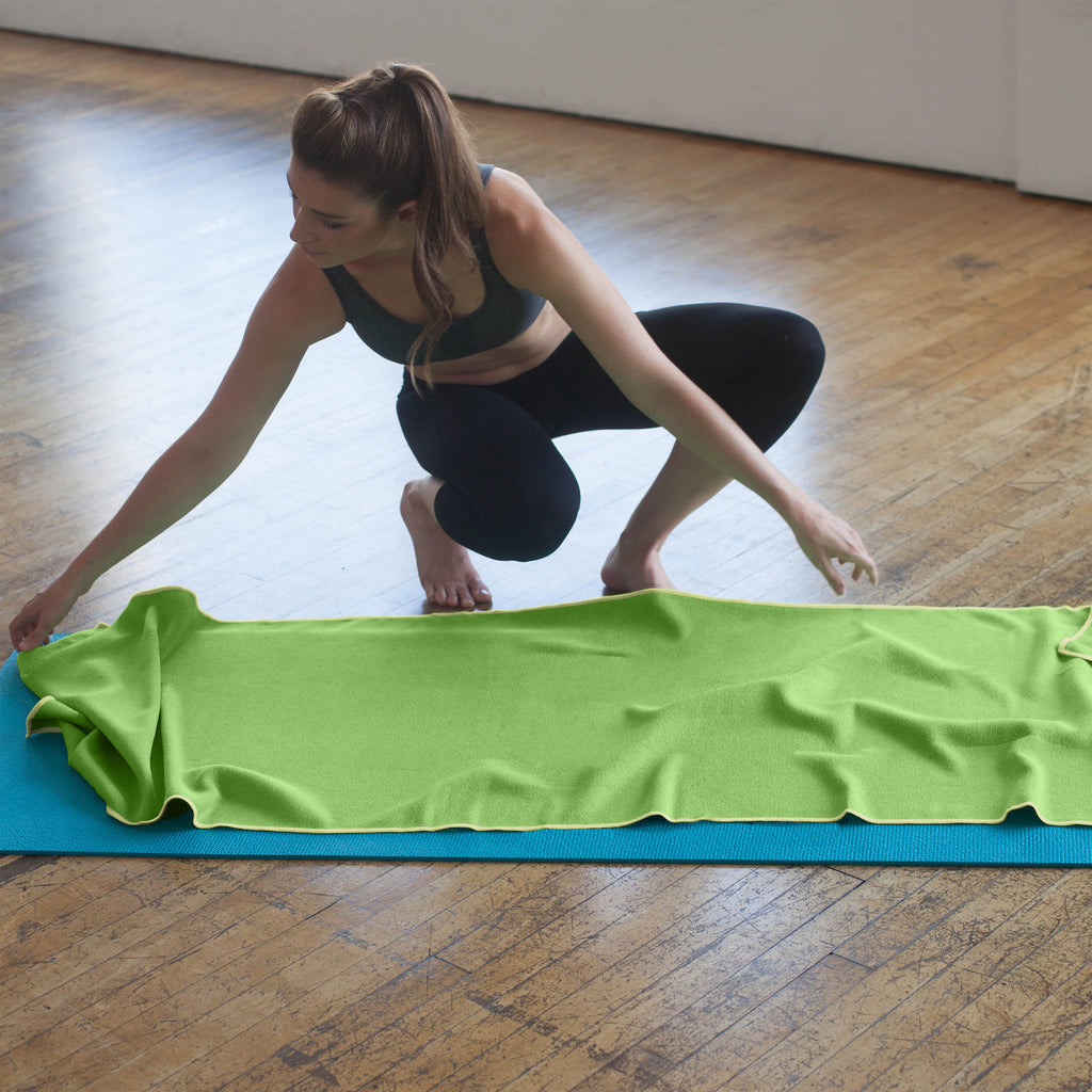 Lime-Lemon Yoga Towel