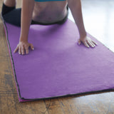 Purple-Black Yoga Towel