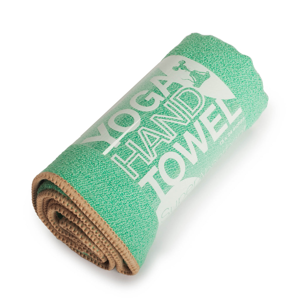 Seafoam-Tan Yoga Hand Towel