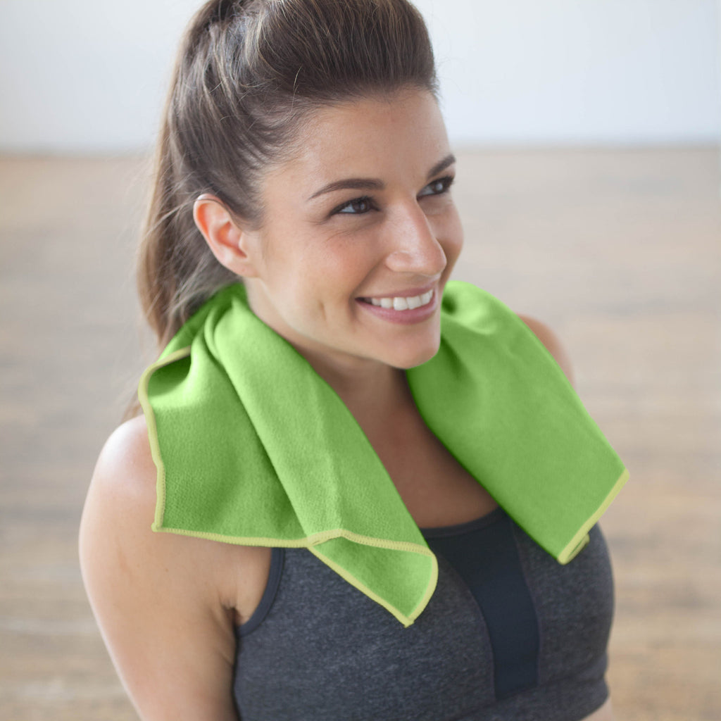 Lime-Lemon Yoga Hand Towel