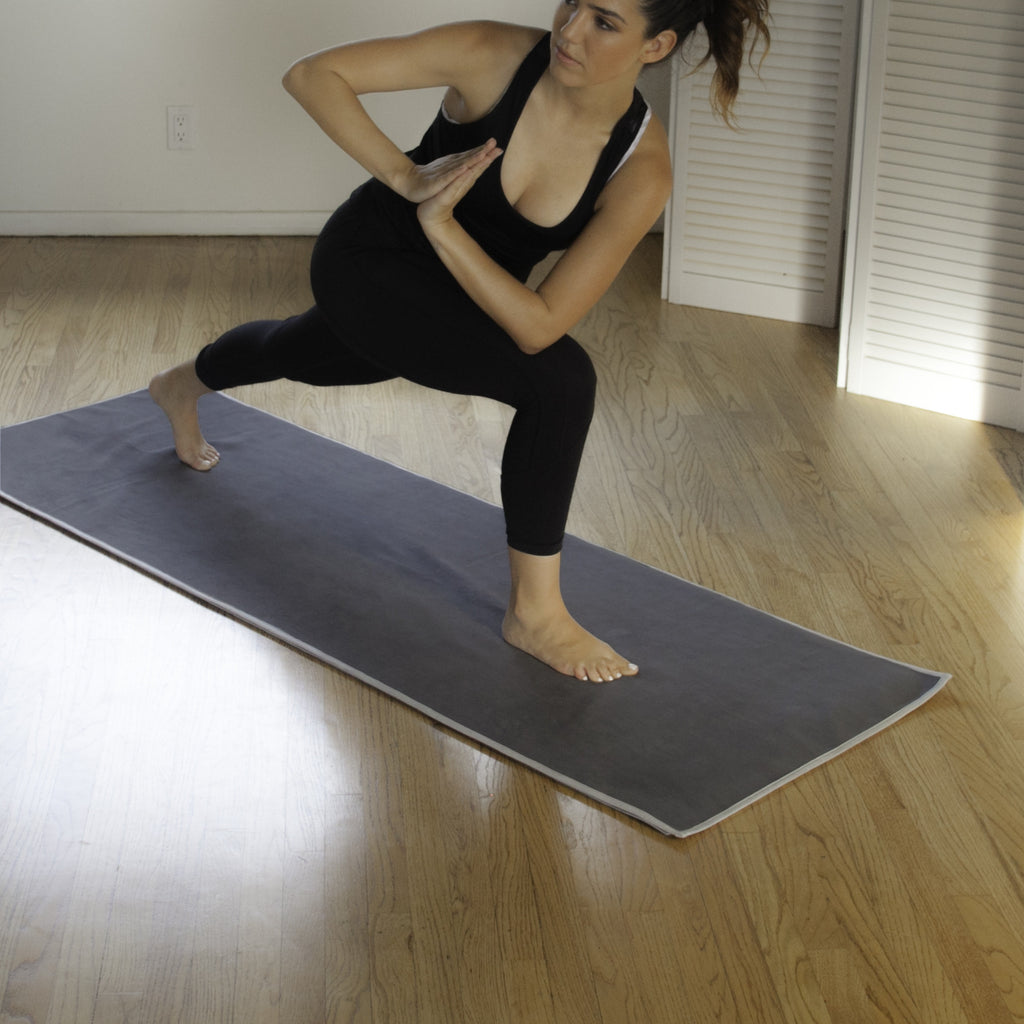 Charcoal-Ash Hot Yoga Towel