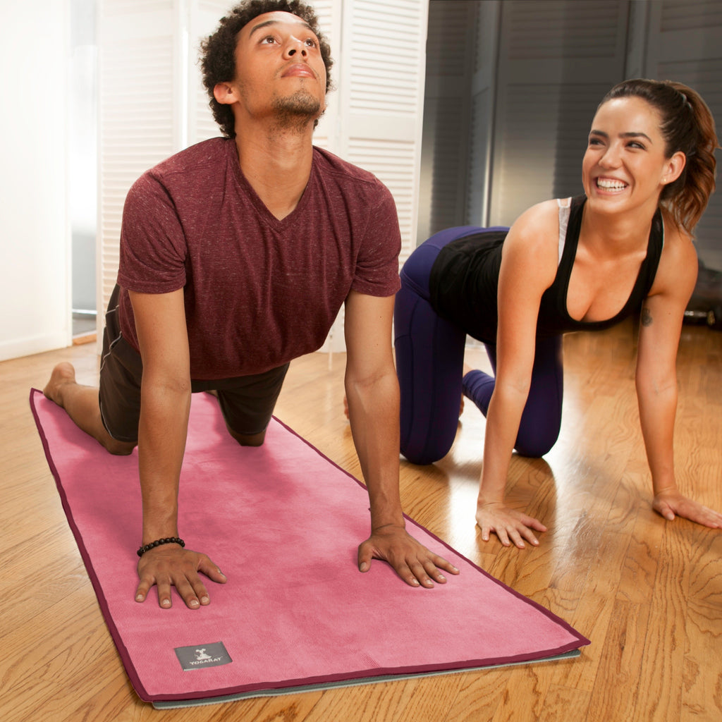 Pink-Cherry Hot Yoga Towel