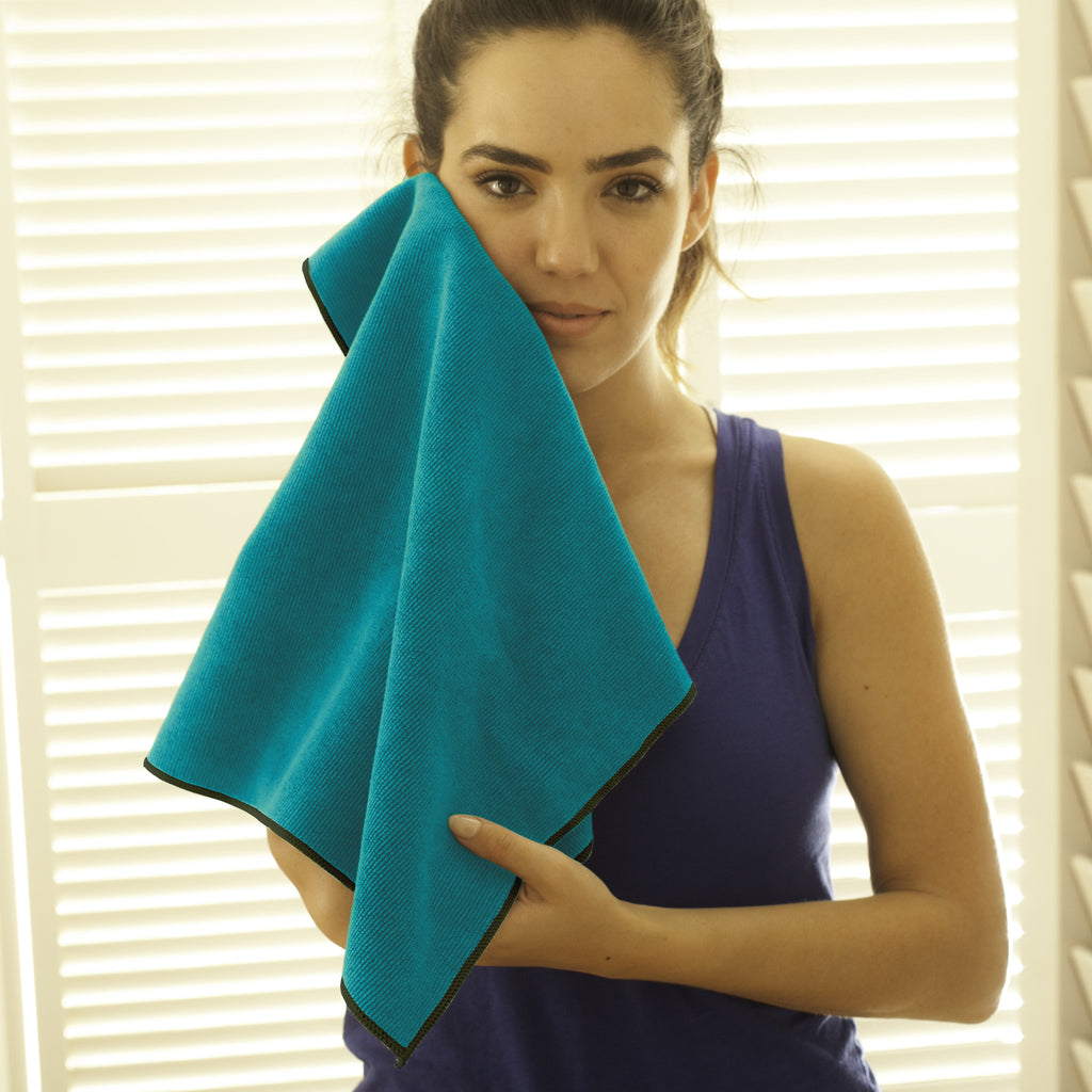 Turquoise-Forest Hot Yoga Hand Towel