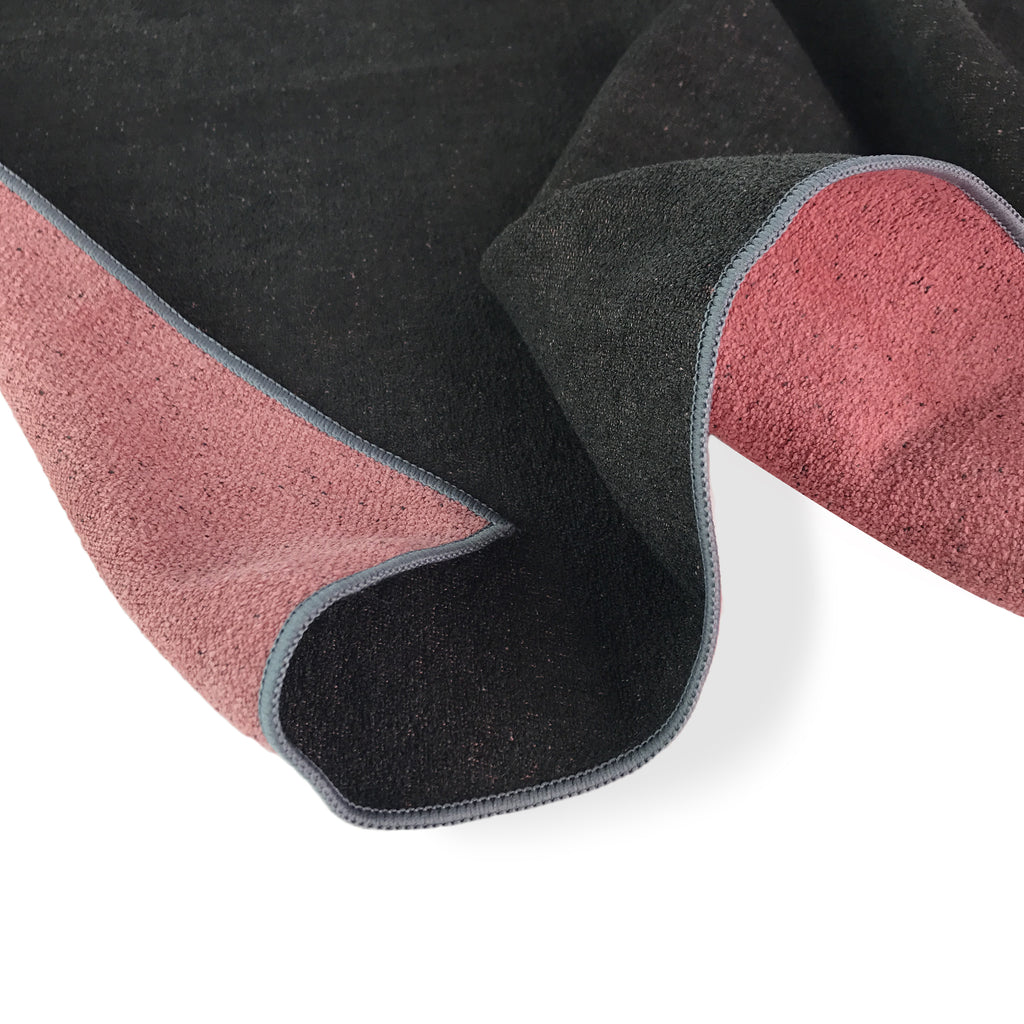 ColorTrue Yoga Towel and Hand Towel, Black- Brick