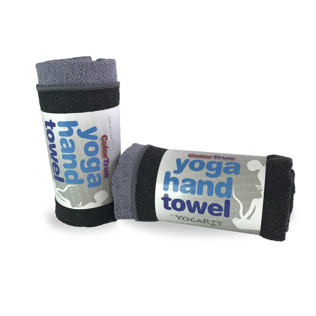 ColorTrue Yoga Hand Towel, Two Pack, Stone-Black