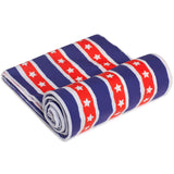 Fun n' Sun Stars and Stripes Beach Towel