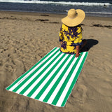 Fun n' Sun Cabana Green Beach Towel