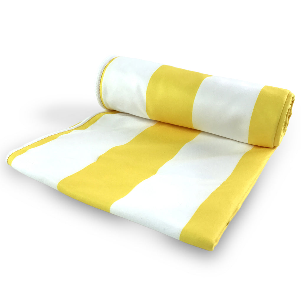 Fun n' Sun Cabana Yellow Beach Towel