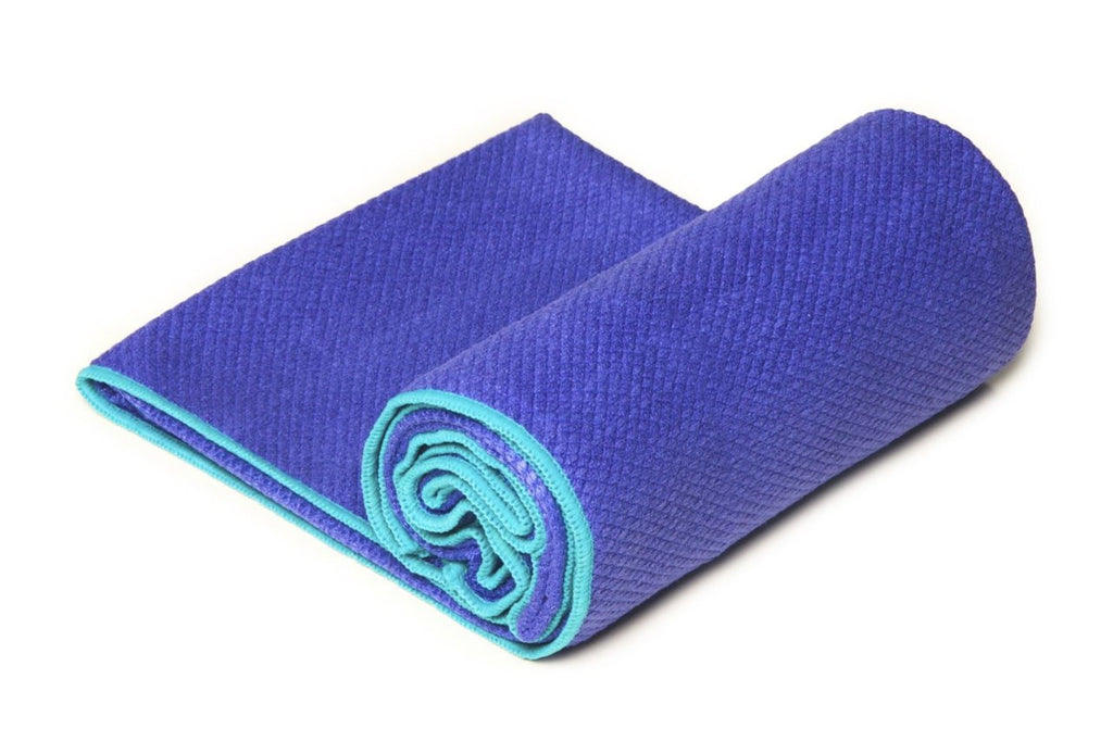 Indigo-Turquoise Diamond Grip Yoga Towel