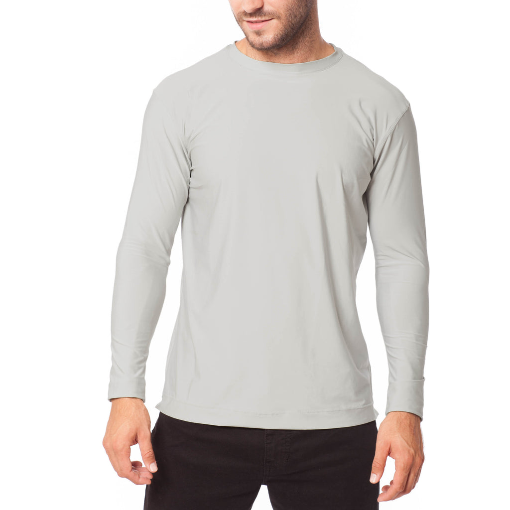 Men's XrossFlex Land & Sea, UPF 50 Long Sleeve T-shirt, Light Gray