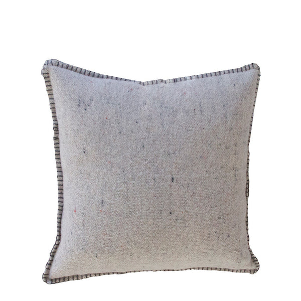 GREY MERINO WOOL BLEND CUSHION 45cm