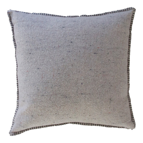 GREY MERINO WOOL BLEND CUSHION 55cm