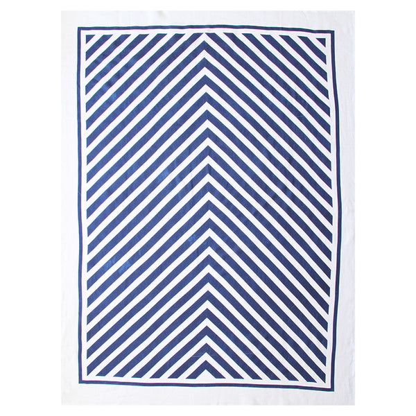 ARROWS LINEN THROW - NAVY