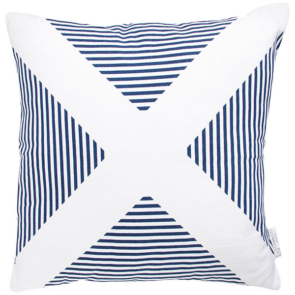 AVALON CROSS NAVY CUSHION COVER