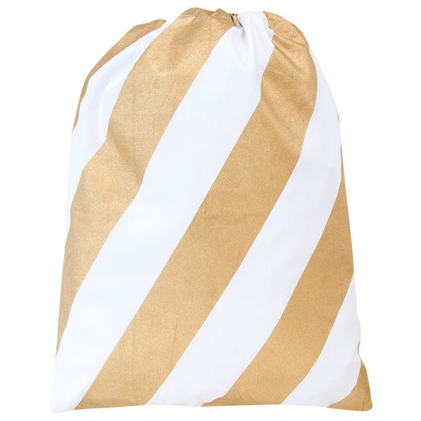 BLOCK STRIPE SANTA SACK - COPPER