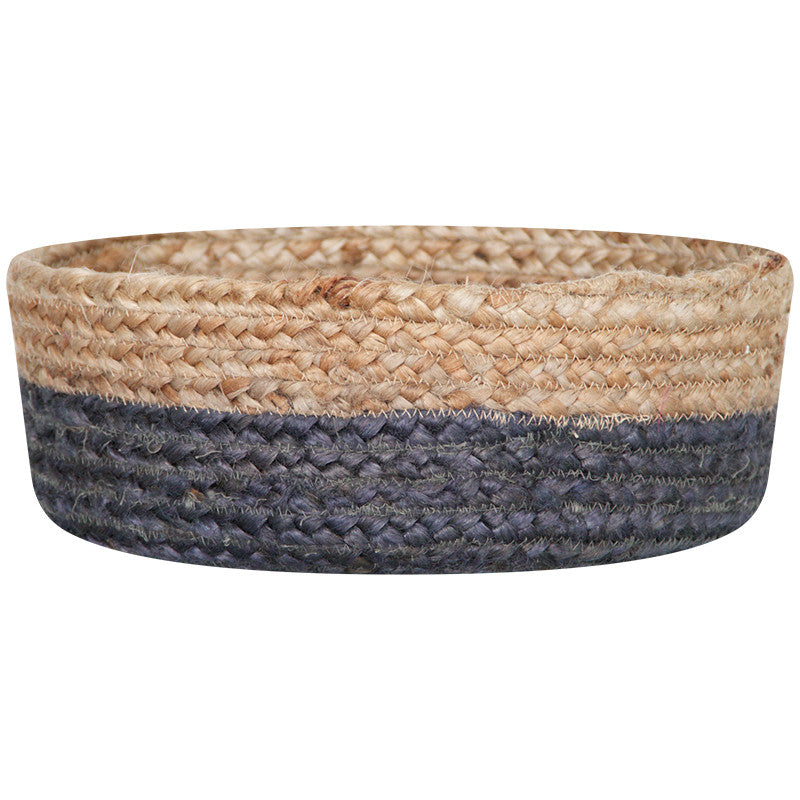 CHARCOAL / NATURAL JUTE BASKET BOWLS SET