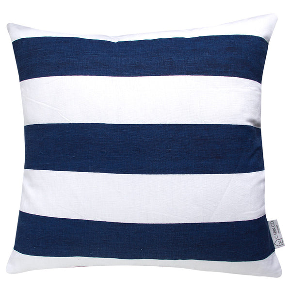 CLASSIC STRIPE NAVY CUSHION COVER