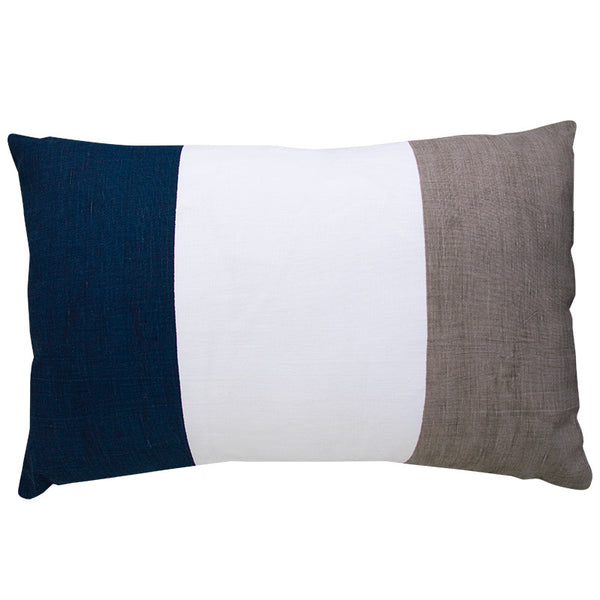 FLAG STRIPE NAVY/ GREY CUSHION COVER