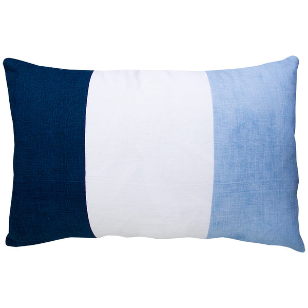 FLAG STRIPE NAVY/  LIGHT BLUE CUSHION COVER
