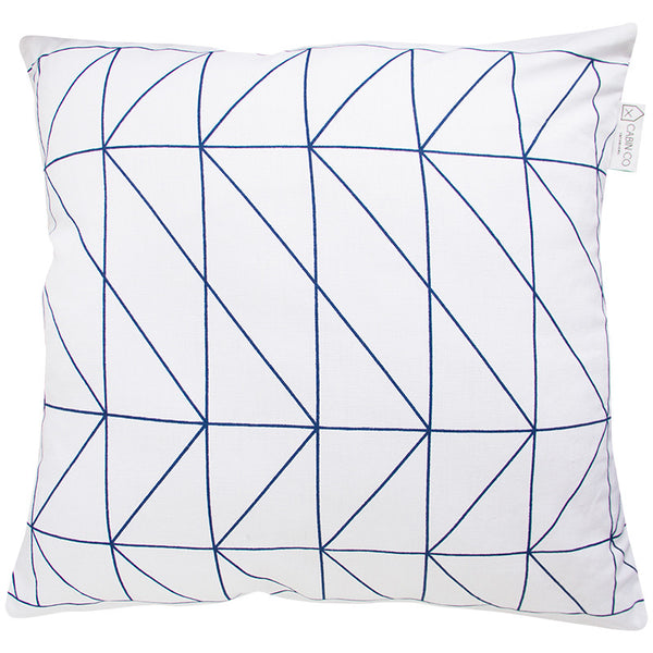 GEOMETRIC WHITE CUSHION COVER