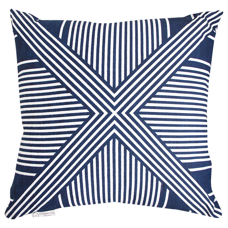 HARBOUR CROSS CUSHION COVER