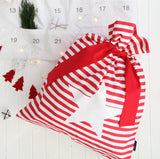 CLASSIC STRIPE CHRISTMAS STOCKING / RED