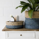 BLACK / NATURAL JUTE BASKET BOWLS SET