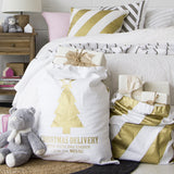 GOLD STRIPE CUSHION COVER