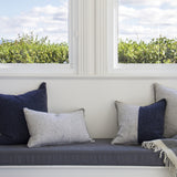 NAVY MERINO WOOL BLEND CUSHION 55cm x 55cm