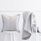 PORTSEA ROUND THROW BLANKET GREY