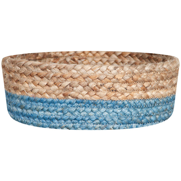 LIGHT BLUE / NATURAL JUTE BASKET BOWLS SET