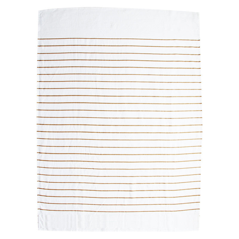 SAILOR STRIPE LINEN THROW - COPPER