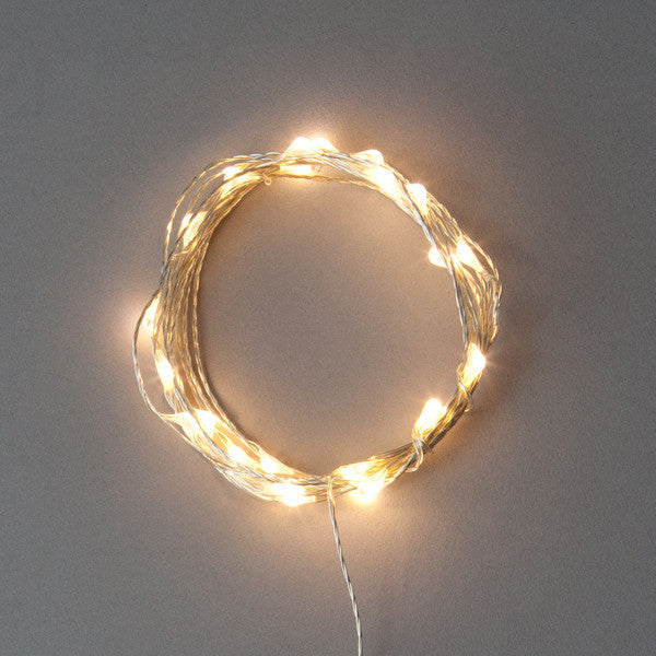 STRING LIGHTS SILVER BATTERIES- 5m