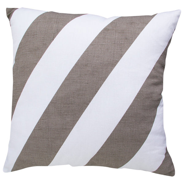 THICK STRIPE - GREY CUSHION COVER