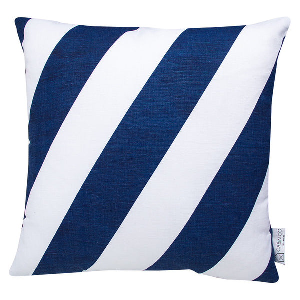 THICK STRIPE - NAVY CUSHION COVER