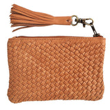 VAYANA LEATHER WOVEN SATCHEL WITH  TASSLE