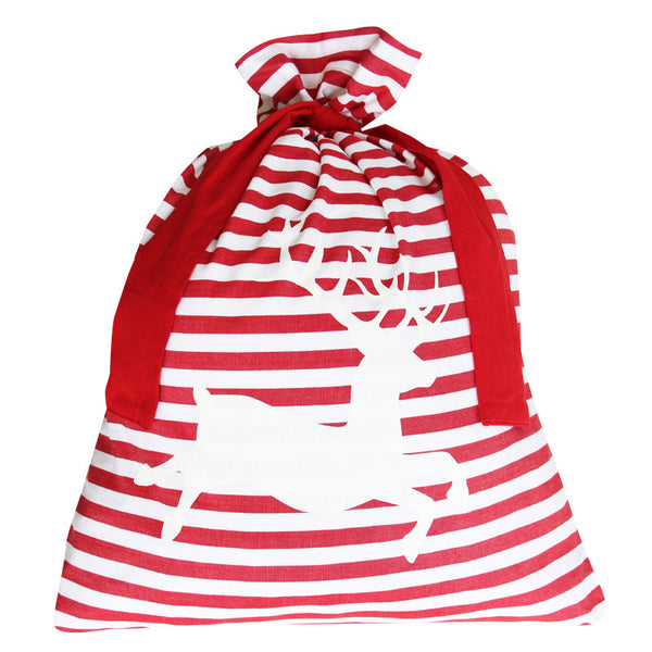 CLASSIC STRIPE SANTA SACK / RED DEER