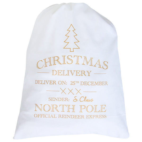 CHRISTMAS DELIVERY SANTA SACK - COPPER