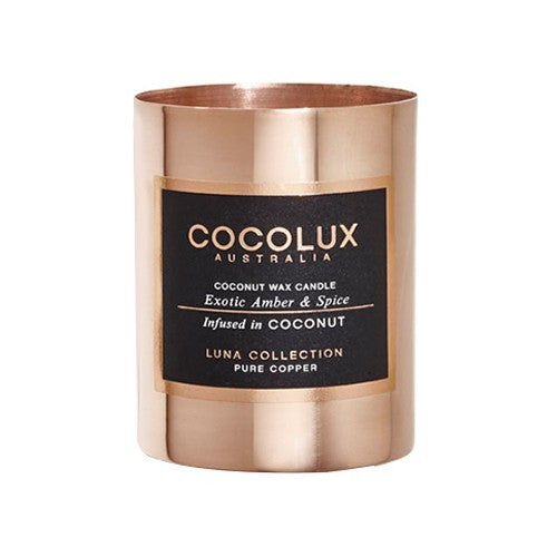 COCOLUX EXOTIC COPPER CANDLE AMBER & SPICE 150G