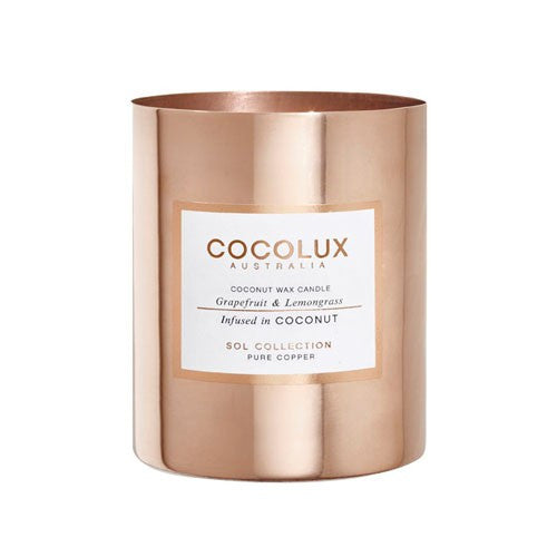 COCOLUX COPPER CANDLE GRAPEFRUIT & LEMONGRASS 150G