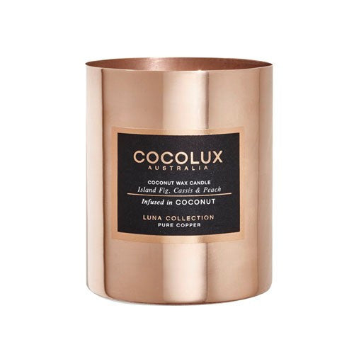 COCOLUX COPPER CANDLE ISLAND FIG, CASSIS & PEACH 150G
