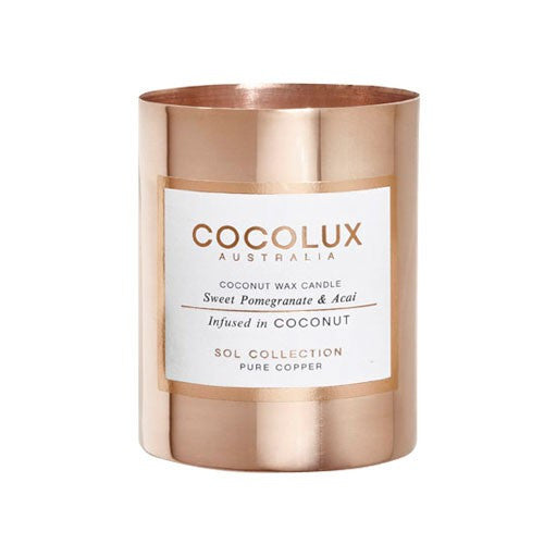 COCOLUX COPPER CANDLE SWEET POMEGRANATE & ACAI 350G