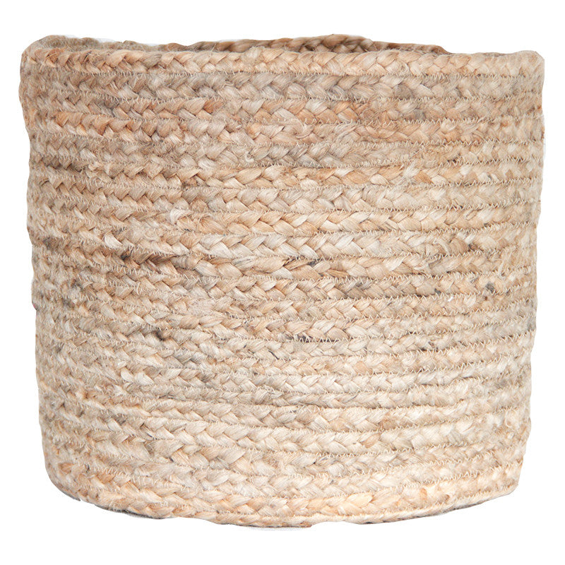 NATURAL JUTE BASKET - LARGE